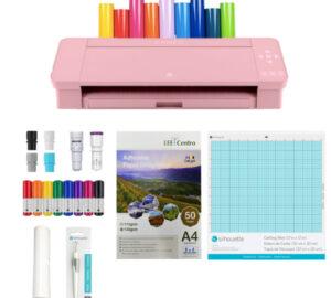 Silhouette Cameo 4 rosa kit de iniciO