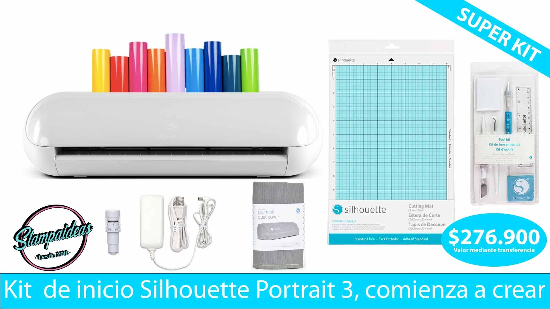 Silhouette portrait 3 kit de inicio