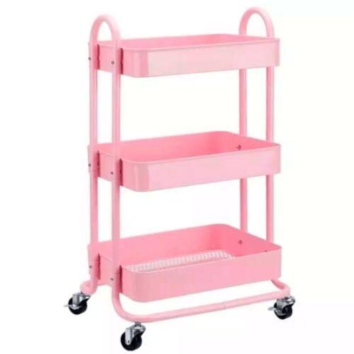 Carro de scrapbook rosado