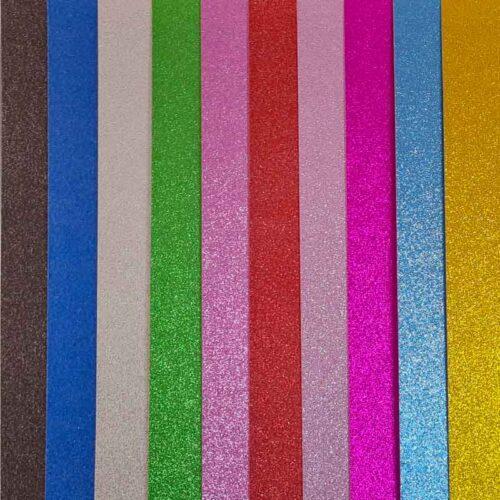 Cartulinas glitter 250 gsm A4