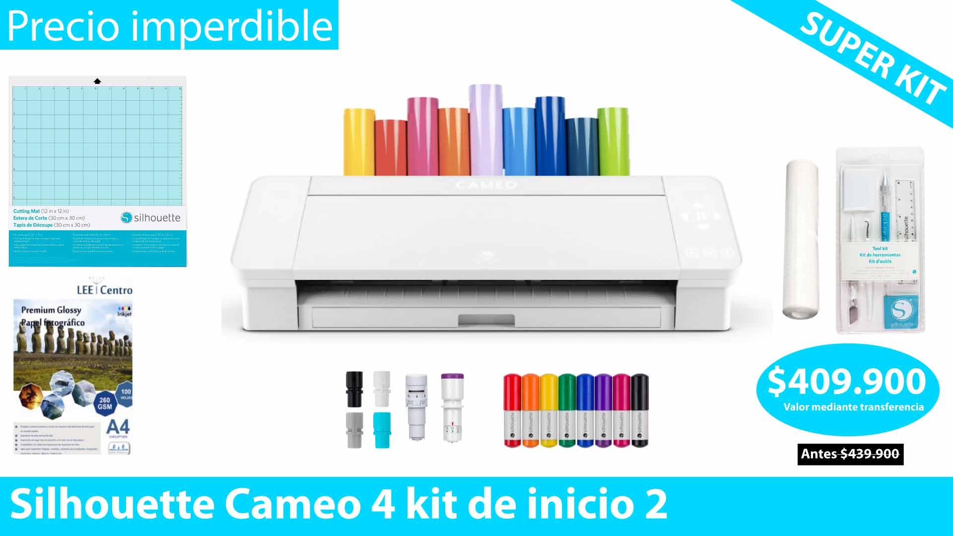 Silhouette Cameo 4 kit de inicio 2 OFERTA