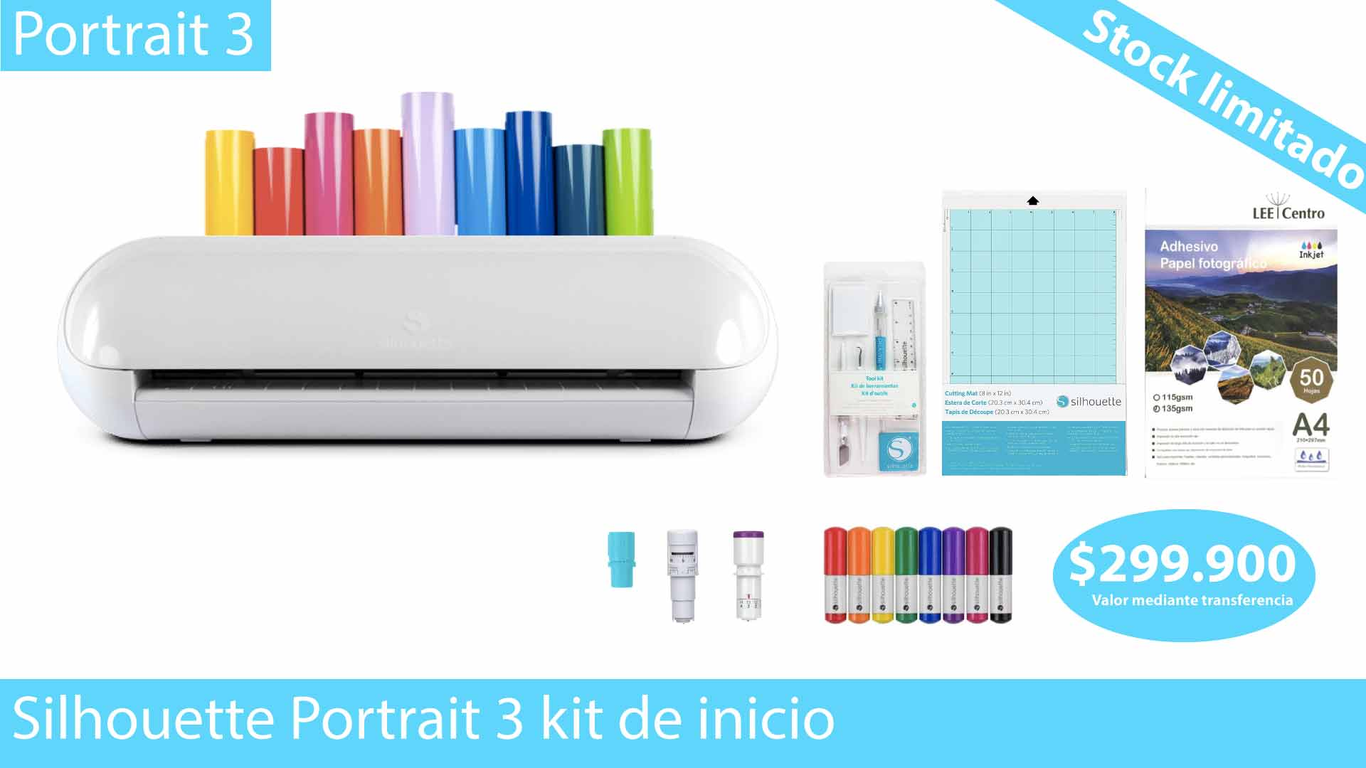Silhouette portrait 3 kit de inicio oferta