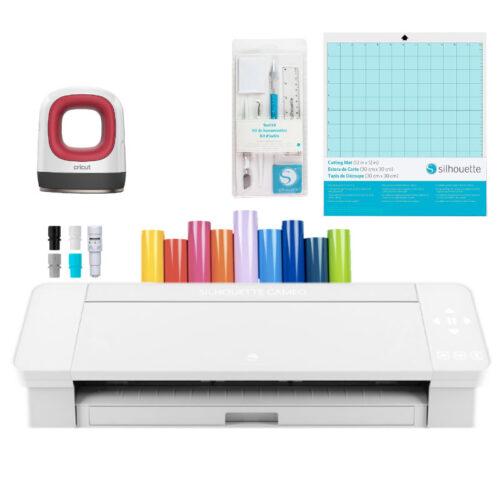 Silhouette Cameo 4 blanca kit emprendimiento