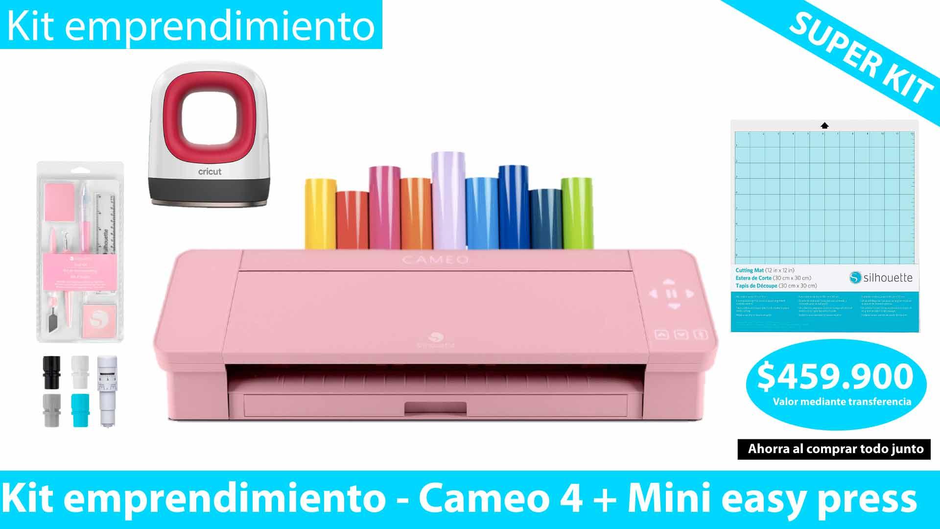 Silhouette Cameo 4 rosa kit emprendimiento