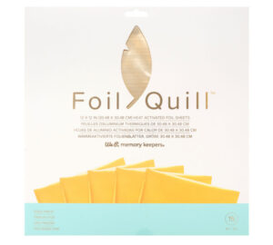 Foil quill dorado 30,5 x 30,5 cm