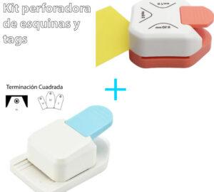 Kit perforadora de esquinas + perforadora de tags